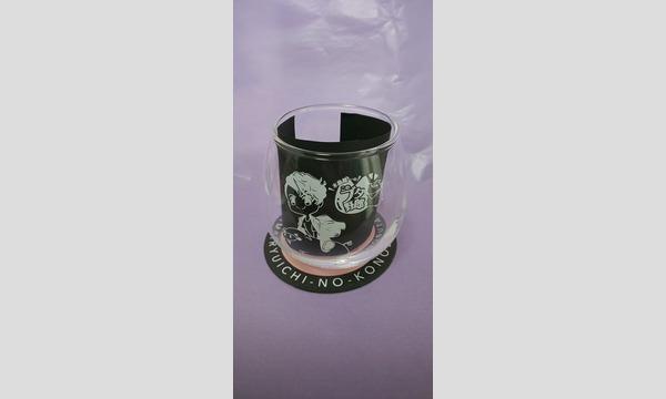 木島隆一のこのブタ野郎 乾杯グラス(このぶたコースター2枚付)白・黒柄セット ※チャンネル会員限定通販受付 イベント画像2