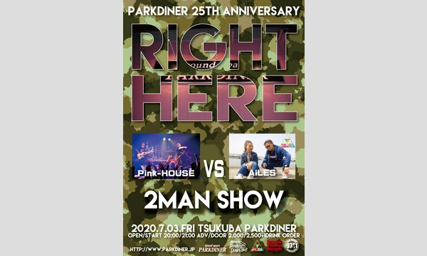 RIGHT HERE~Pink-HOUSE vs AiLES 2MAN SHOW イベント画像1