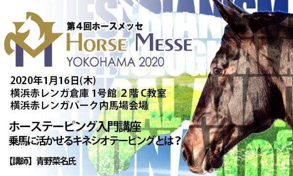 第4回Horse Messe(ホースメッセ)特別講習会 ホーステーピング入門講座-乗馬に活かせるキネシオテーピングとは? イベント画像1