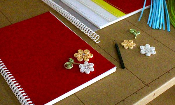 PAPETERIE 紙の仕立て屋さんの5/18(木)18時~ オリジナルのペーパーリングノートを作って、ペーパークイリングのモチーフをデコレーションしよう!イベント
