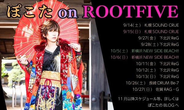 【10/5(土)】ぽこた on ROOT FIVE vol.2 イベント画像1
