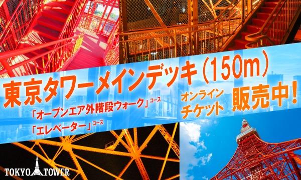 『東京タワーメインデッキ』オープンエア外階段ウォークコースorエレベーターコース 公式オンラインチケット