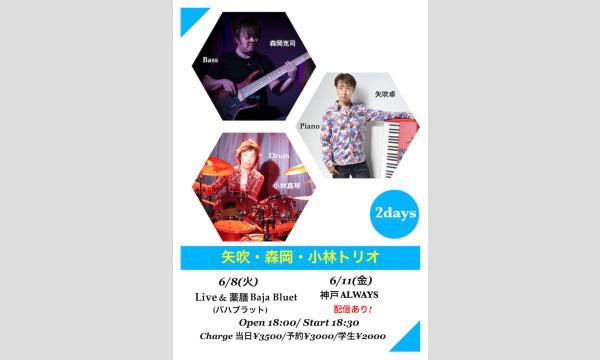 生配信ライブ 矢吹・森岡・小林トリオ 神戸ALWAYS 2021/6/11 イベント画像1